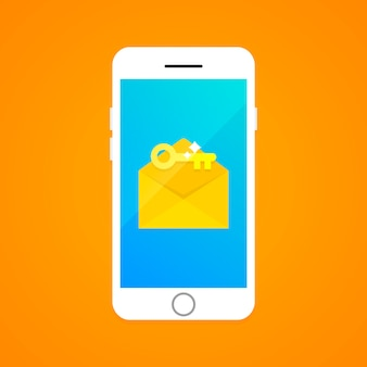 Concept d'authentification à deux facteurs par sms.