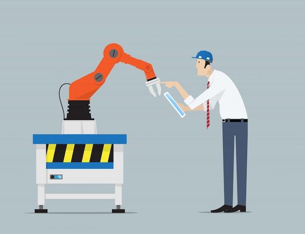 Concept d'automatisation d'usine.