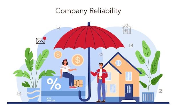 Concept d'avantages immobiliers agent ou courtier immobilier fiable