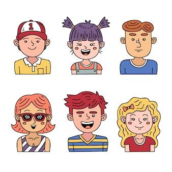 Concept d'avatar de personnes pour illustration