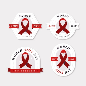 Concept de badges de la journée mondiale du sida