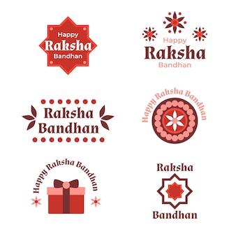 Concept de badges plats raksha bandhan