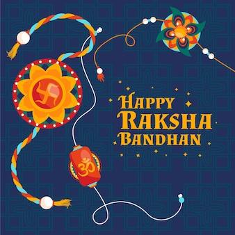 Concept de bandhan plat raksha