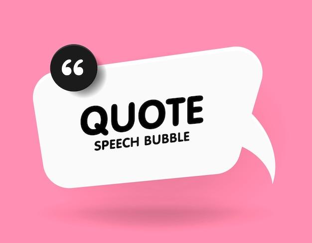 Concept de bannière, bulle, affiche et autocollant avec exemple de texte. message de bulle blanche sur rose vif