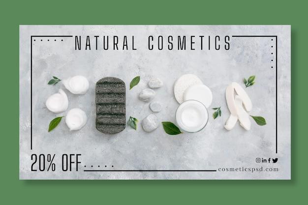 Concept de bannière cosmétique