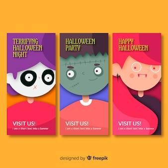Concept de bannière créative halloween heureux