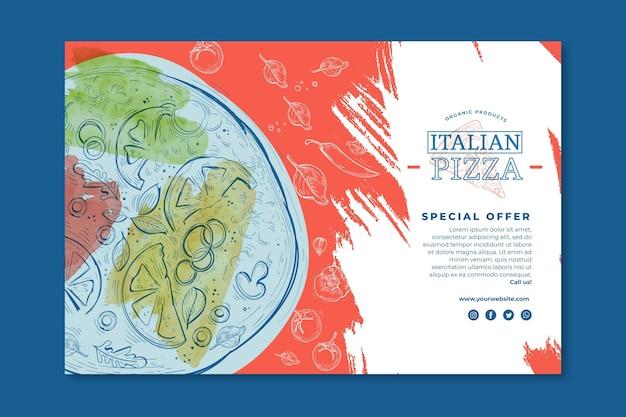 Concept de bannière de cuisine italienne