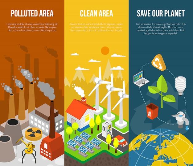 Concept de bannière écologique
