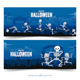 Concept de bannière halloween heureux moderne