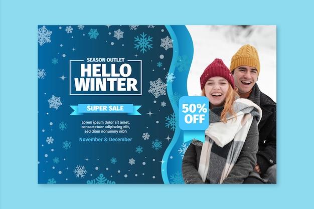 Concept de bannière d'hiver