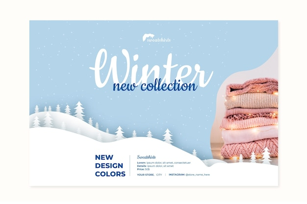 Concept De Bannière D'hiver Vecteur gratuit