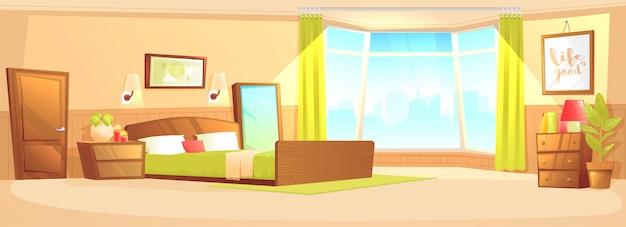 Concept de bannière intérieur intérieur de chambre à coucher
