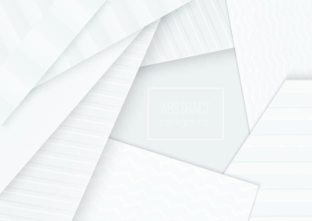 Concept de bannière de papier découpé. papier abstrait incurvé