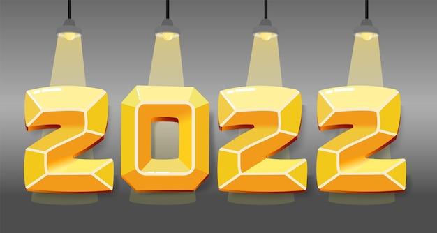 Concept de bannière pour le nouvel an 2022.