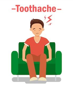 Concept de bannière de problème orthodontique