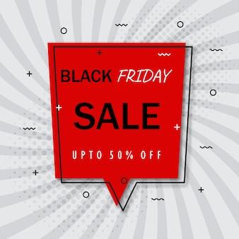 Concept de bannière de promotion vente vendredi noir abstrait