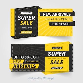 Concept de bannière promotionnelle super vente