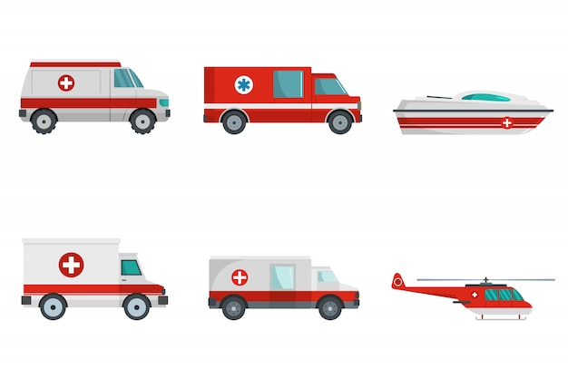 Concept de bannière de transport ambulance