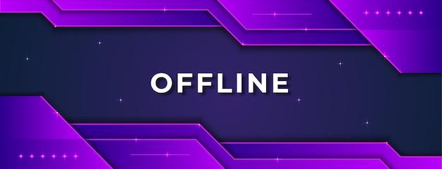 Concept de bannière twitch hors ligne