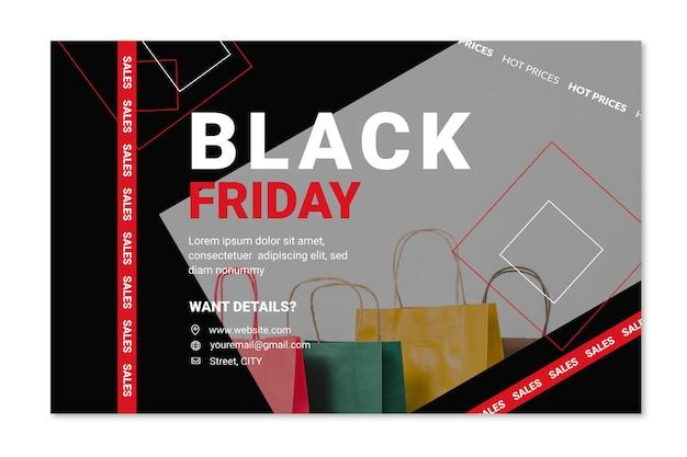Concept de bannière vendredi noir