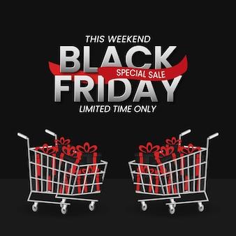 Concept de bannière de vente vendredi noir.