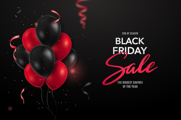 Concept de bannière de vente vendredi noir