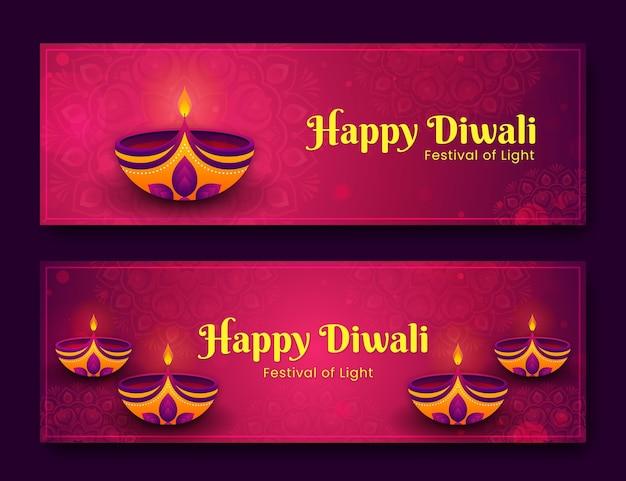 Concept de bannières diwali