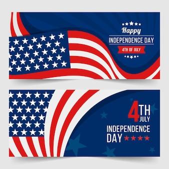 Concept de bannières de la fête de l'indépendance