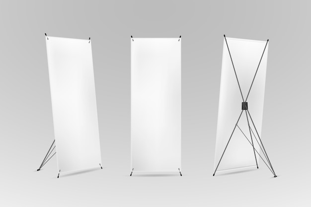 Concept de bannières de stand x