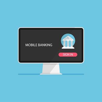 Concept de banque en ligne transaction d'argent et paiement mobile