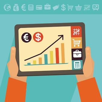 Concept de banque en ligne de vecteur