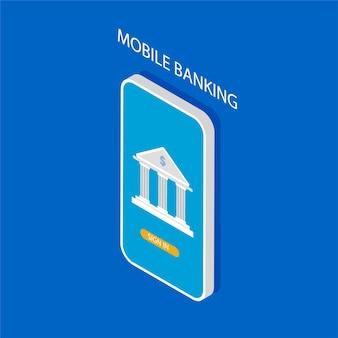 Concept de banque mobile. transaction d'argent, paiement professionnel et mobile.