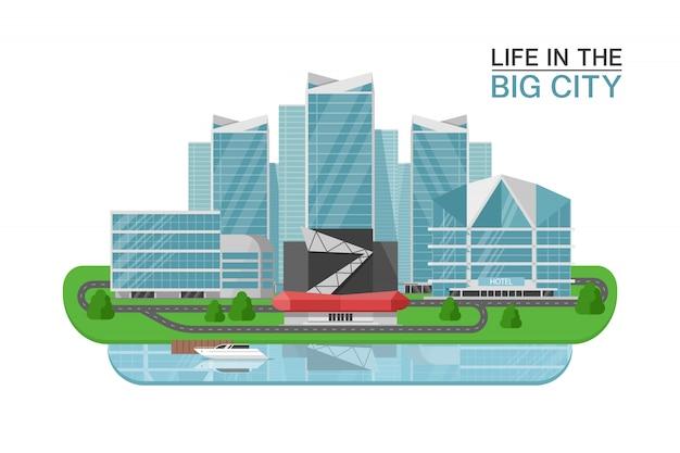 Concept de bâtiments de ville