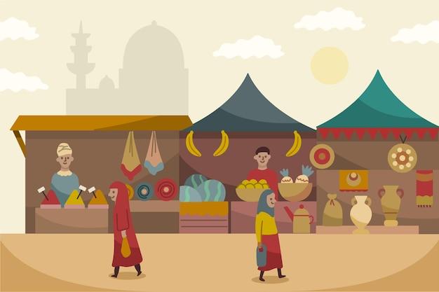 Concept de bazar arabe