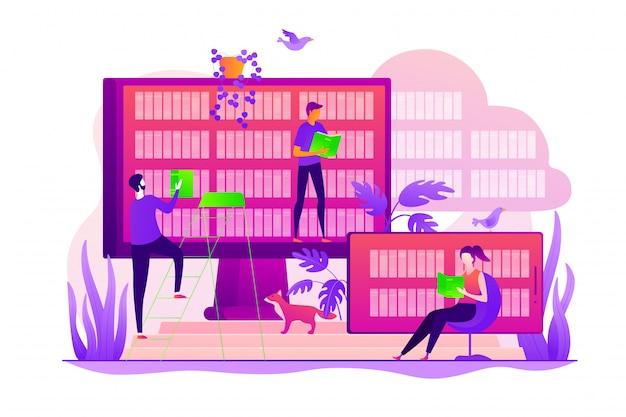 Concept de bibliothèque électronique.