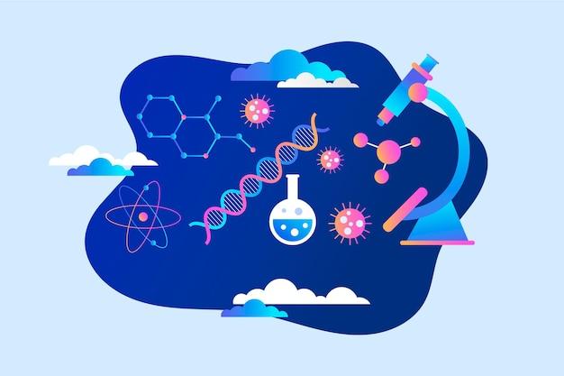 Concept de biotechnologie dégradé illustré