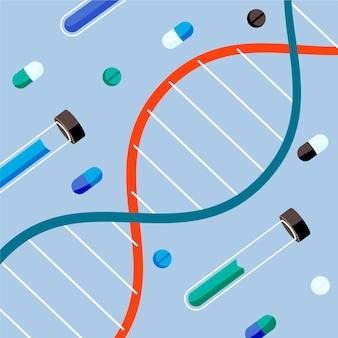 Concept de biotechnologie design plat illustré