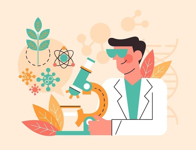 Concept de biotechnologie plat