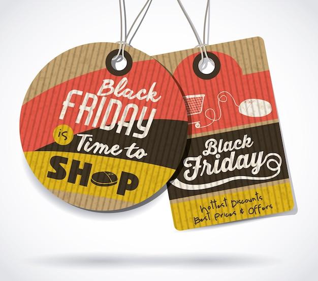 Concept de black friday avec design d'icônes de vente