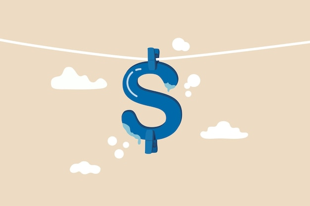 Concept De Blanchiment D'argent Et De Criminalité Financière Vecteur Premium