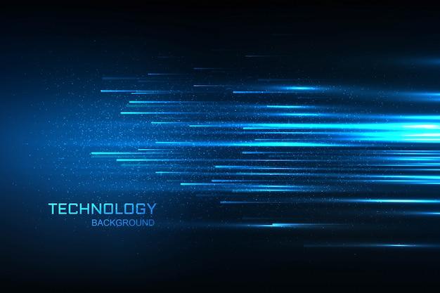 Concept bleu technologie fond bleu