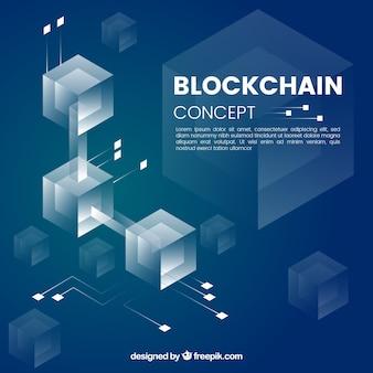 Concept de blockchain infographique