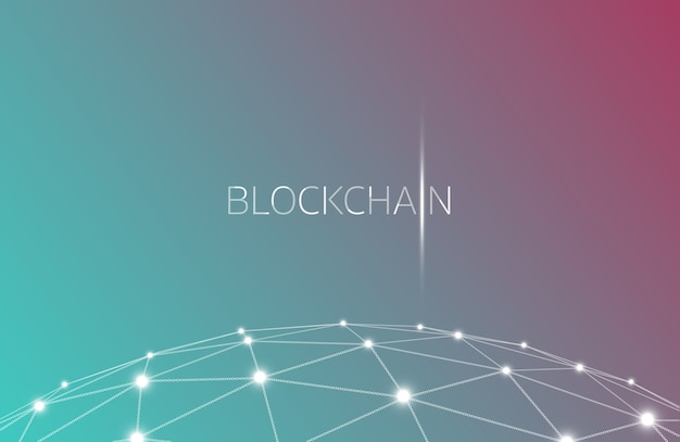 Concept blockchain, technologie blockchain. ico (offre initiale en piece), crypto currency t
