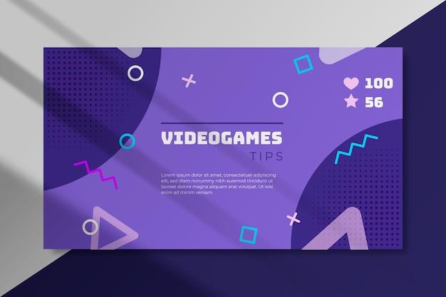 Concept de blog de bannière de jeu vidéo