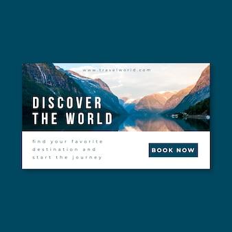Concept de blog de bannière de voyage