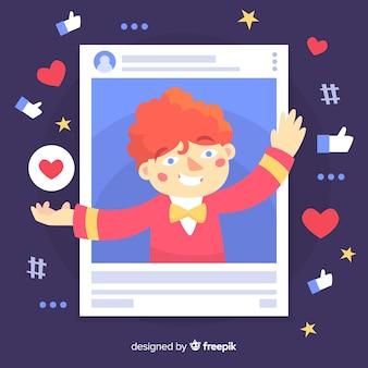 Concept de blogueur moderne avec un design plat