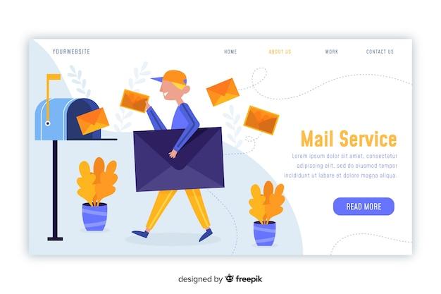Concept de boîte aux lettres pour la page de destination