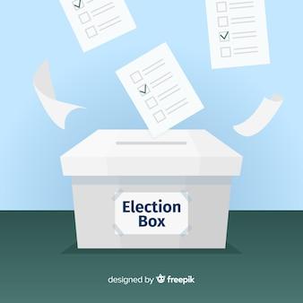 Concept de boîte d'élection