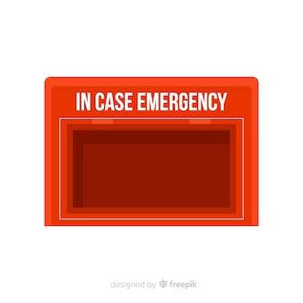 Concept de boîte d'urgence vide