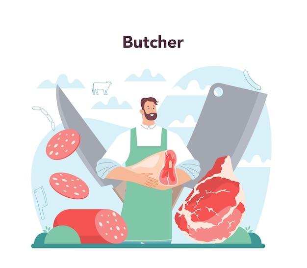 Concept de boucher ou de meatman